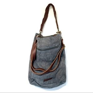 Lucky Brand hobo crossbody bag linen cotton